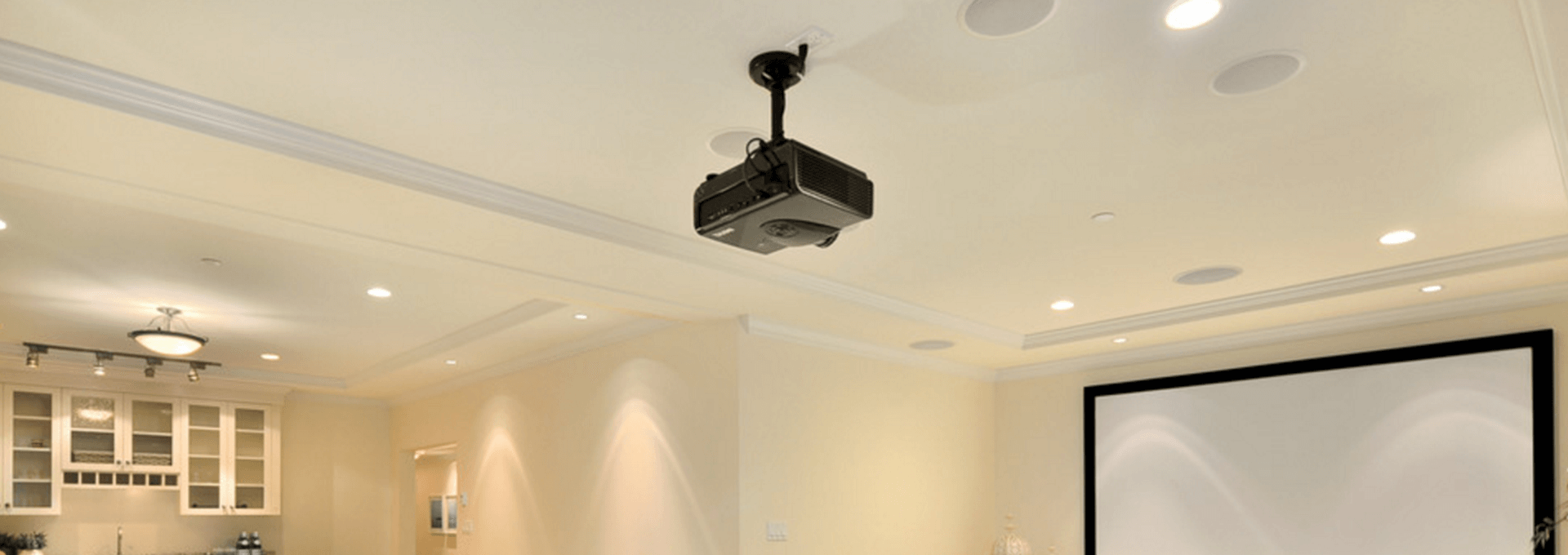 Circular Projector Ceiling Mount